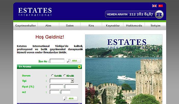 Estates International Emlak Web Tasarım
